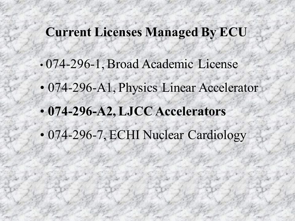Licenses and Radiation Safety Committees