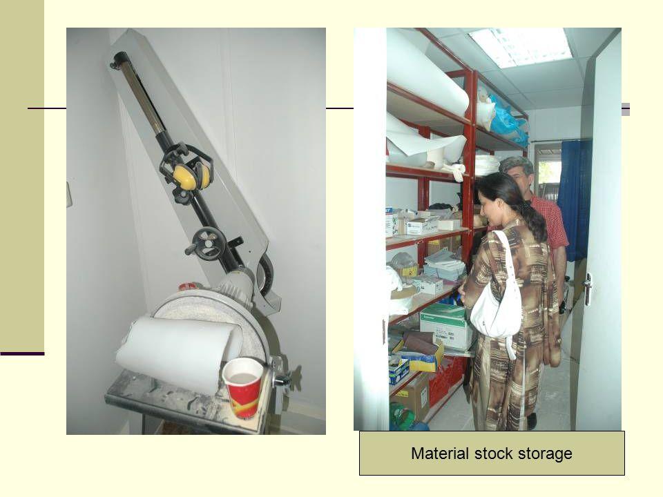 Material stock storage
