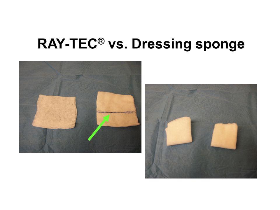 RAY-TEC ® vs. Dressing sponge