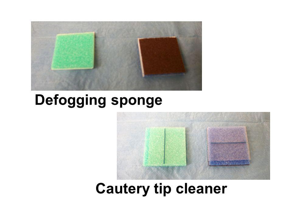 Defogging sponge Cautery tip cleaner