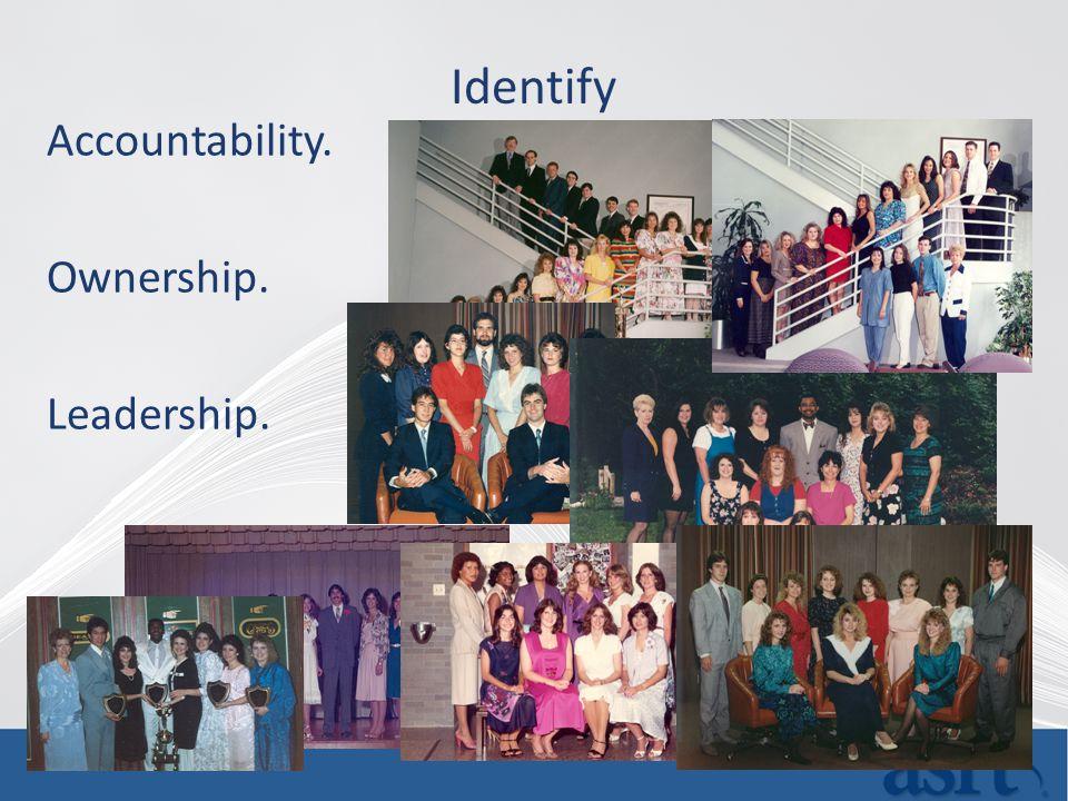 Identify Accountability. Ownership. Leadership.