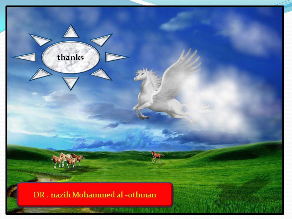 DR. nazih Mohammed al -othman thanks