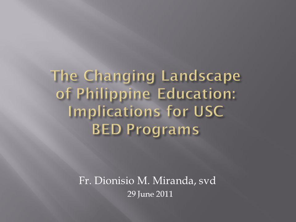 Fr. Dionisio M. Miranda, svd 29 June 2011