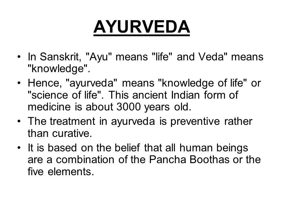 AYURVEDA In Sanskrit,