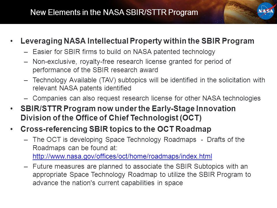 SBIR/STTR Now a Early Stage Program Under OCT