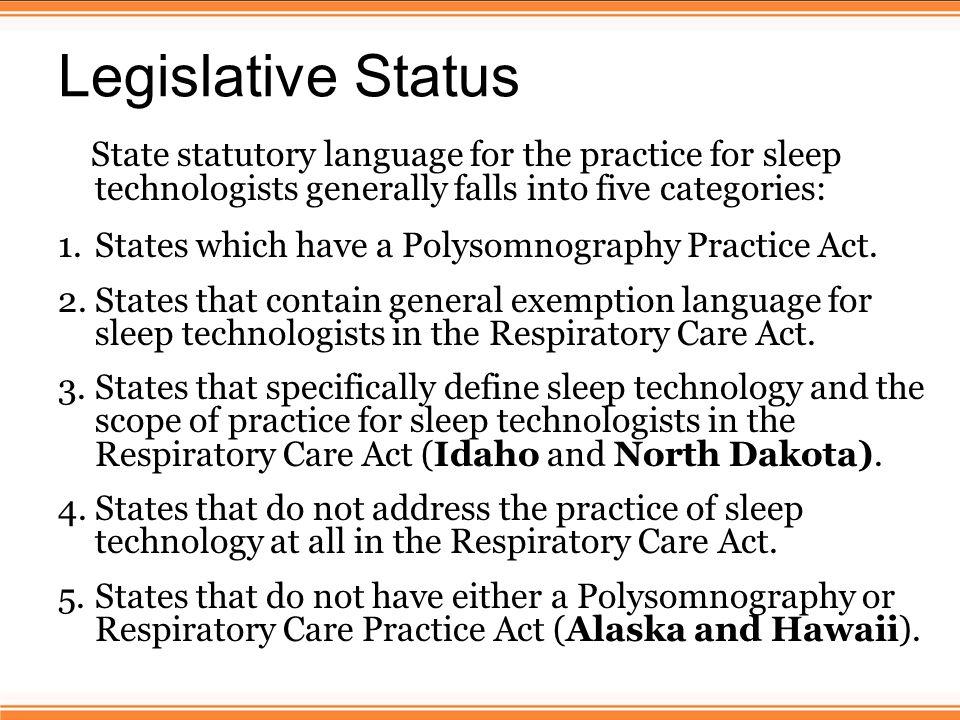 Moving Legislation Connecticut – The Connecticut Sleep Society is developing legislation to establish licensure for sleep technologists.
