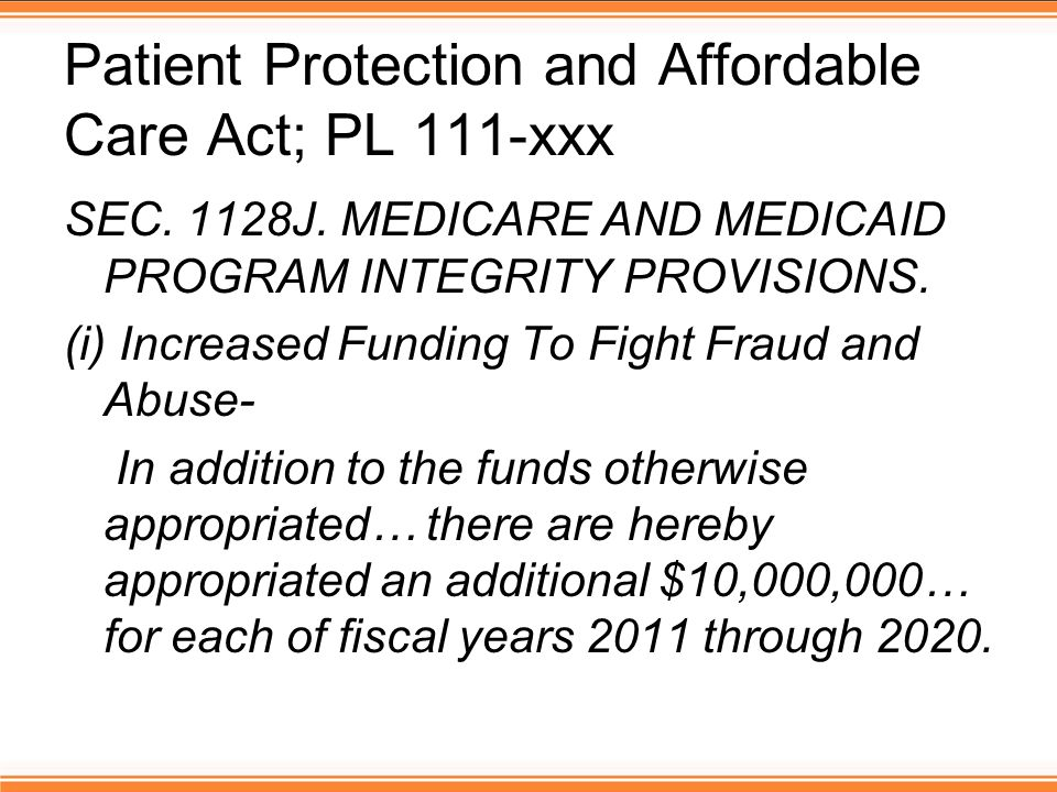 Patient Protection and Affordable Care Act; PL 111-xxx SEC.