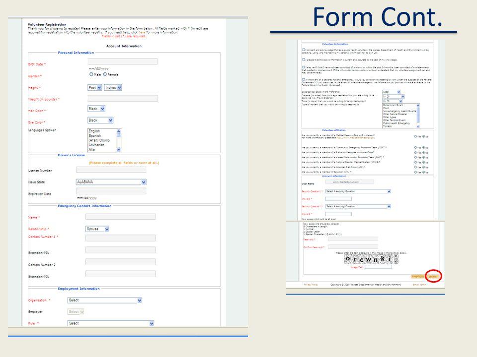 Form Cont.
