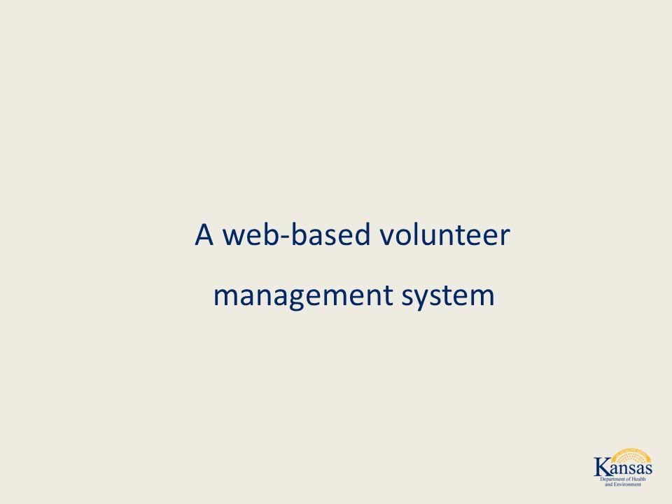 A web-based volunteer management system