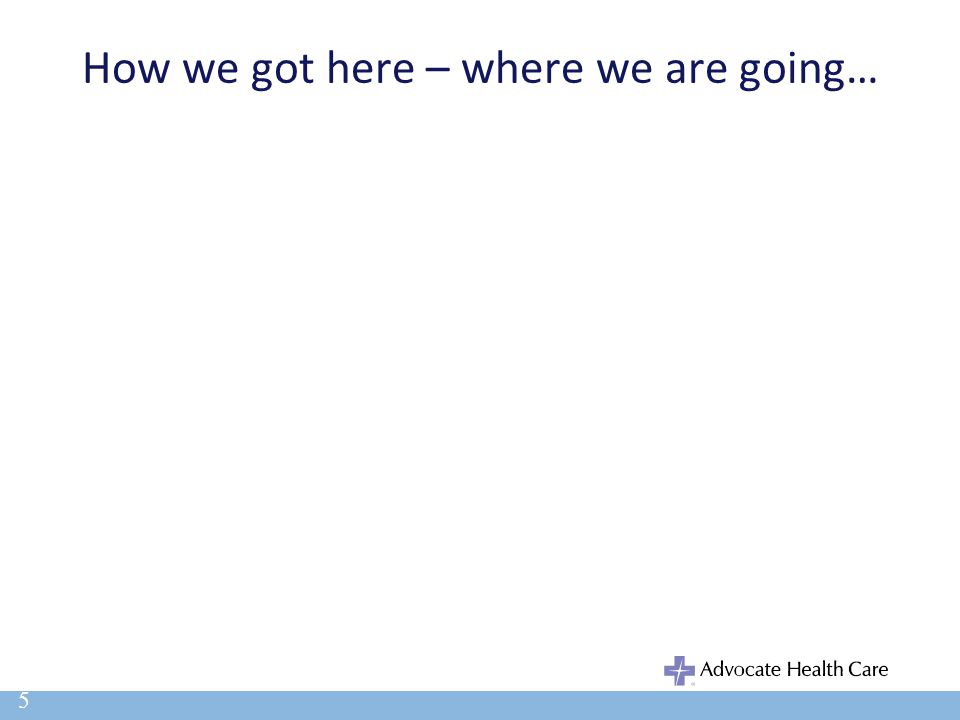 How we got here – where we are going… 5