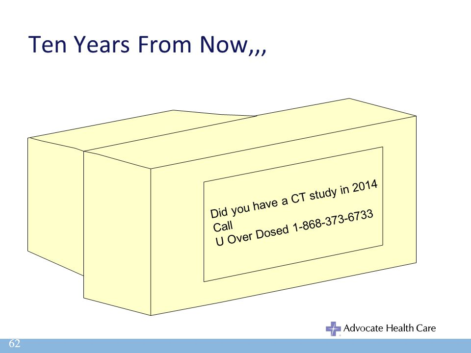 Ten Years From Now,,, 62 Did you have a CT study in 2014 Call U Over Dosed 1-868-373-6733