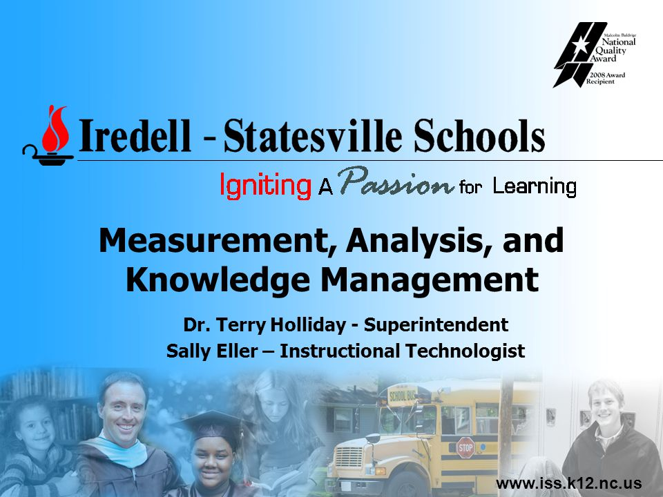www.iss.k12.nc.us Measurement, Analysis, and Knowledge Management Dr.