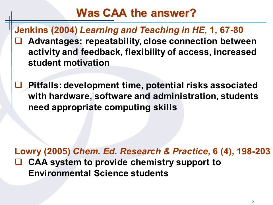 16 Evaluation of the software & students' computing skills Data for 2005 (2006 results very similar)