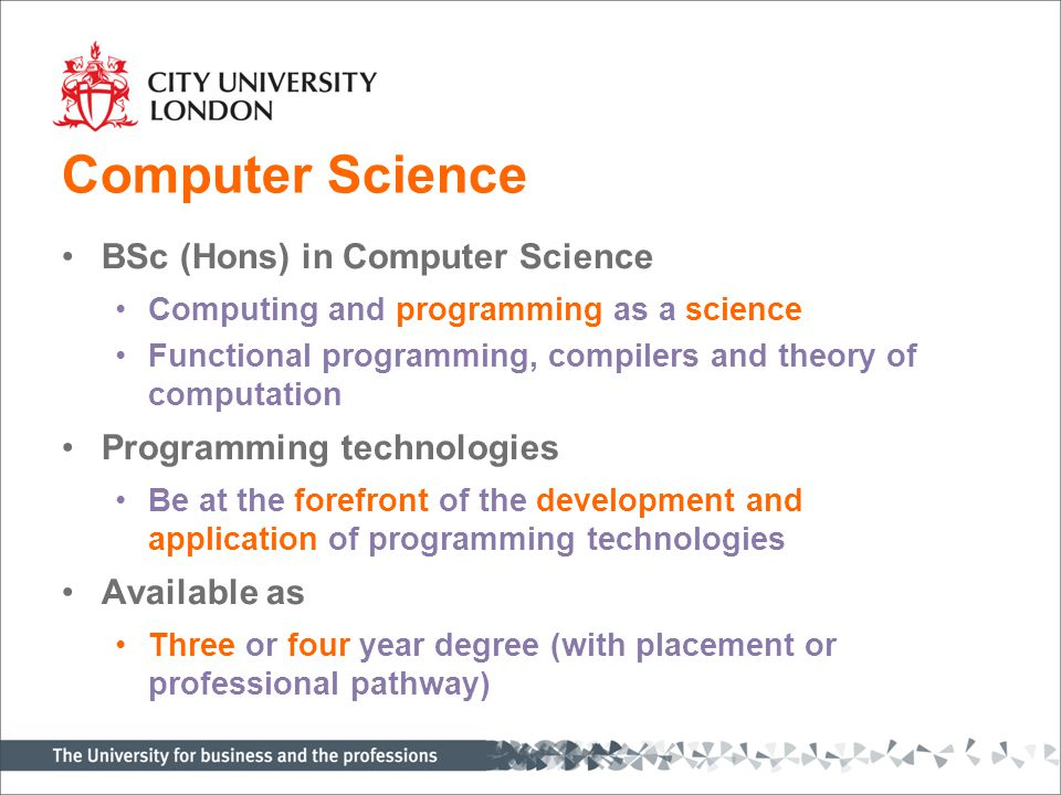 Software Engineering BSc (Hons) in Software Engineering Developing large complex, reliable, software systems Delivers key development skills Requirements analysis, systems design, metrics and testing Taught by research and industry leaders Available as Four-year degree (with placement or professional pathway)