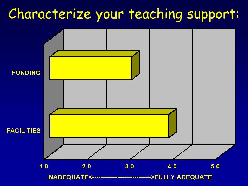 Characterize your teaching support: