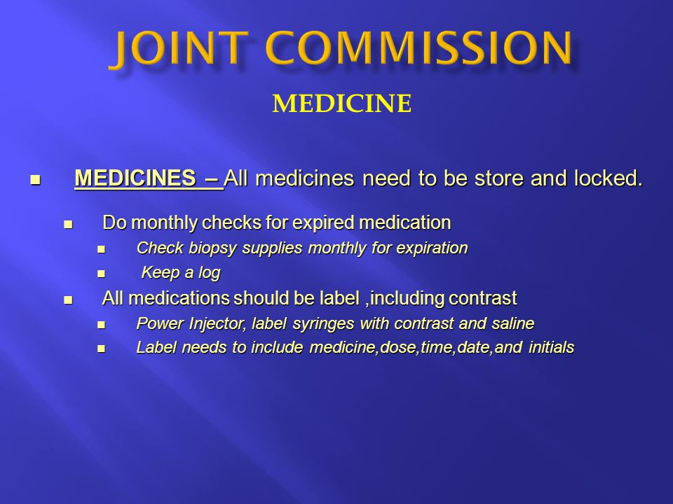 MEDICINE MEDICINES – All medicines need to be store and locked. MEDICINES – All medicines need to be store and locked. Do monthly checks for expired m