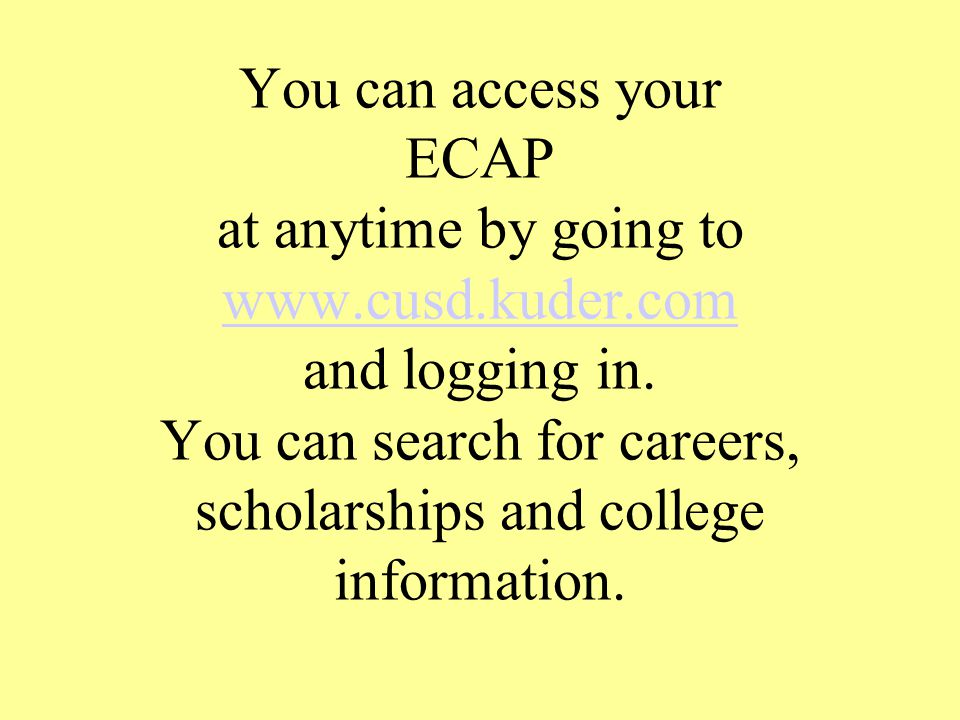 Every student must have a completed and verified EC AP.