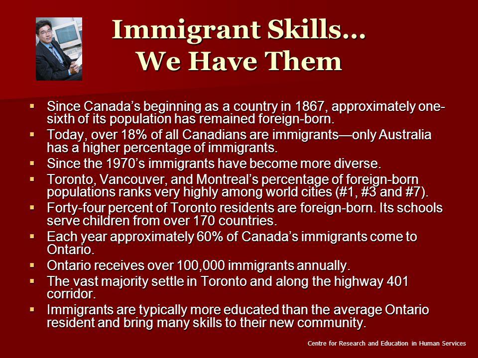 Waterloo Region Has Immigrants Waterloo Region Has Immigrants  The 2001 Census found that 22% of Waterloo Region residents are immigrants.