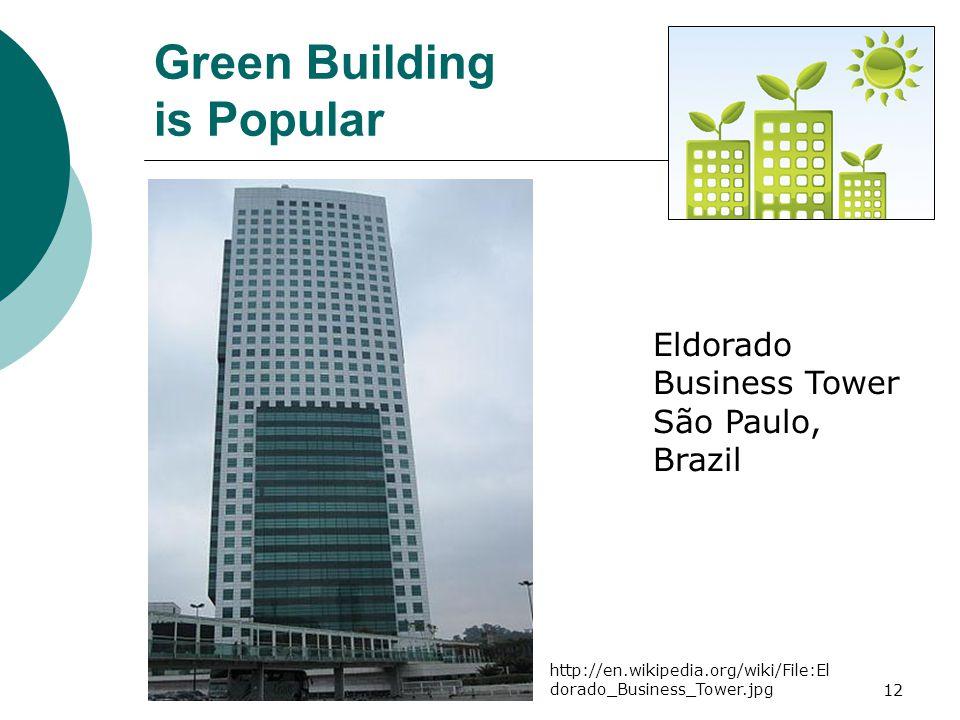 12 Eldorado Business Tower São Paulo, Brazil Green Building is Popular http://en.wikipedia.org/wiki/File:El dorado_Business_Tower.jpg