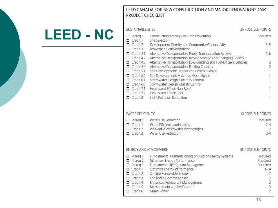 LEED - NC 19