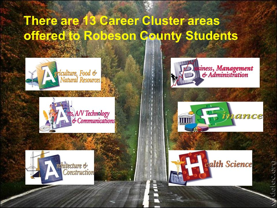 There are 13 Career Cluster areas offered to Robeson County Students