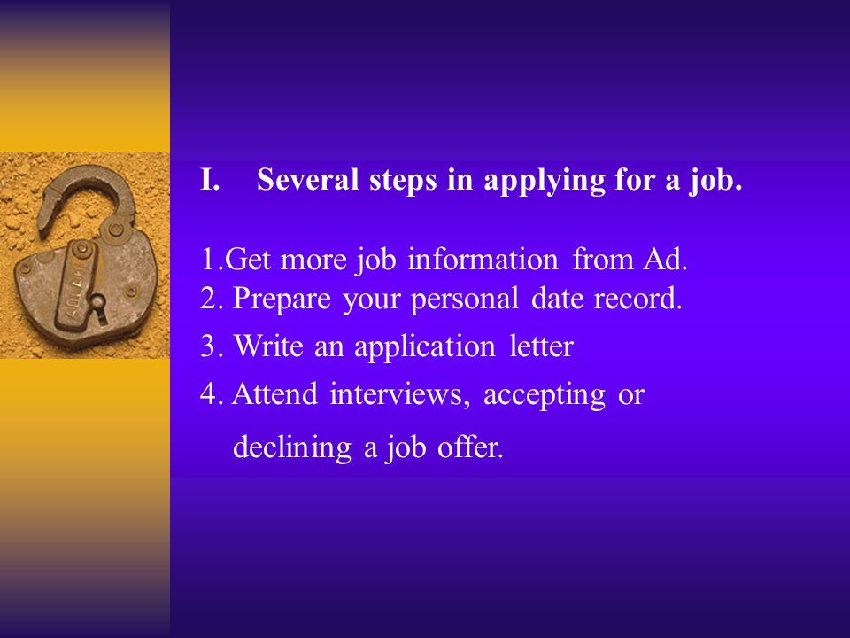Task Three: 1) Having a job interview April: Hello.
