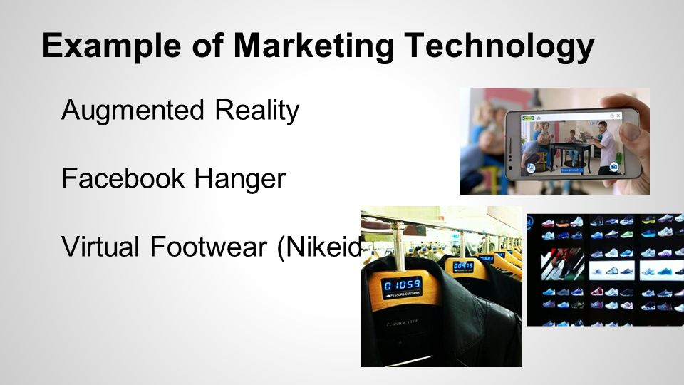 Example of Marketing Technology Augmented Reality Facebook Hanger Virtual Footwear (Nikeid)
