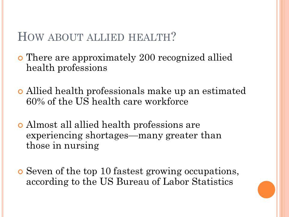 B UT WHAT IS ALLIED HEALTH .