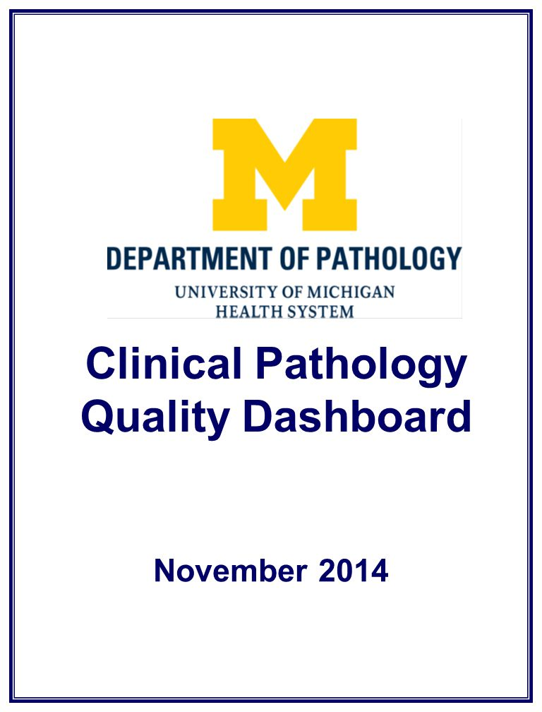 Clinical Pathology Quality Dashboard November 2014