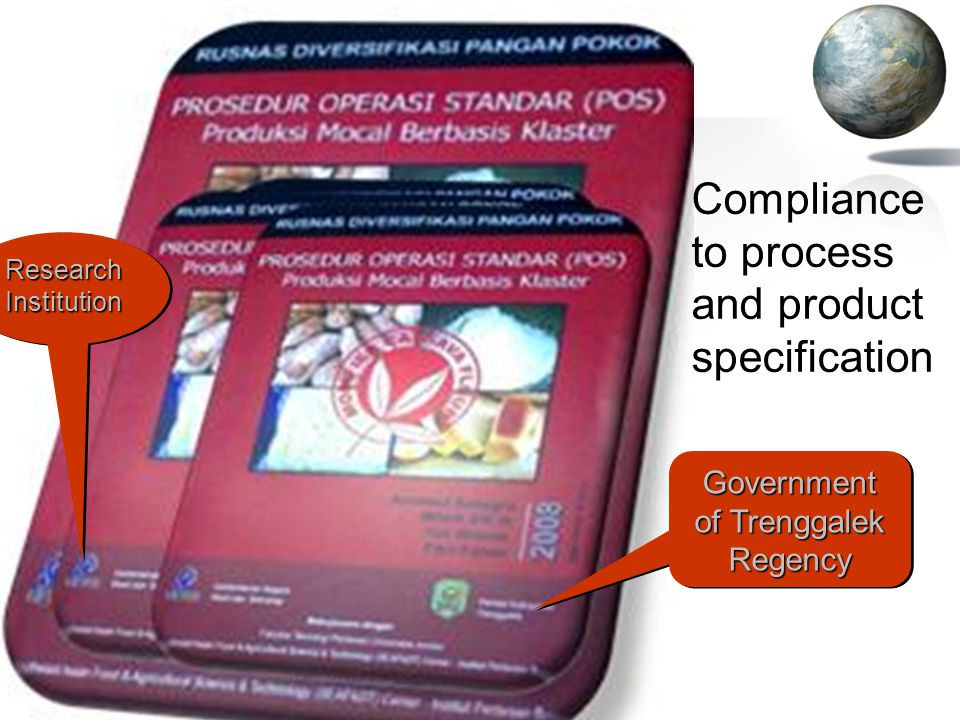 Compliance to process and product specification Government of Trenggalek Regency Research Institution