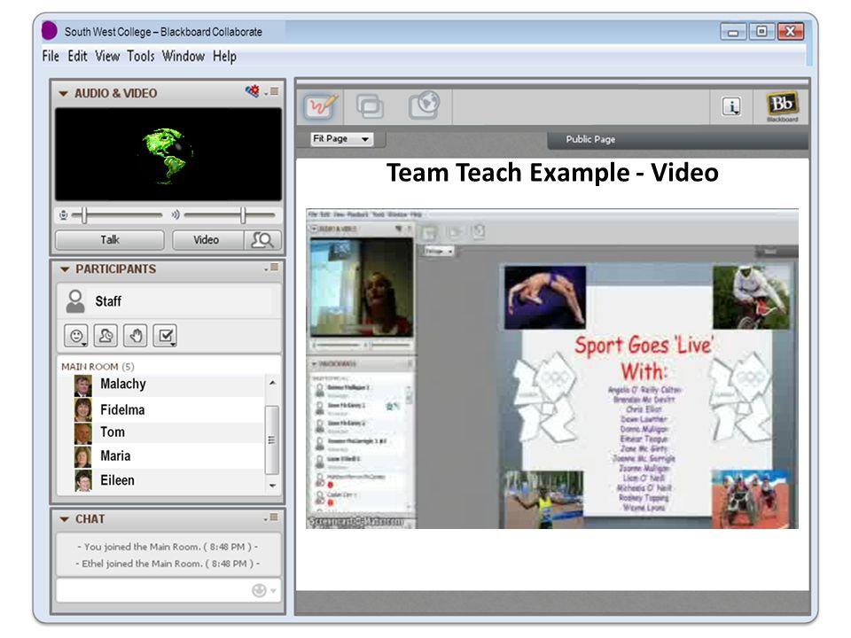 Team Teach Example - Video