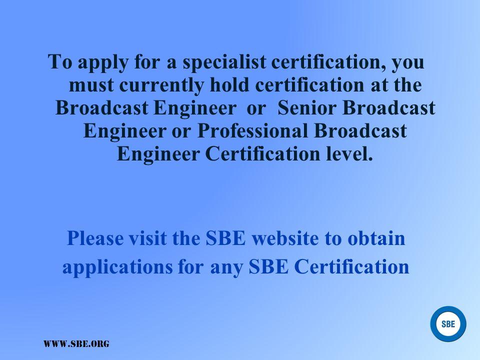 Specialist Specialist DIGITAL RADIO BROADCAST Specialist (DRB) The specialist exam will include: Knowledge of importersKnowledge of importers Exporter