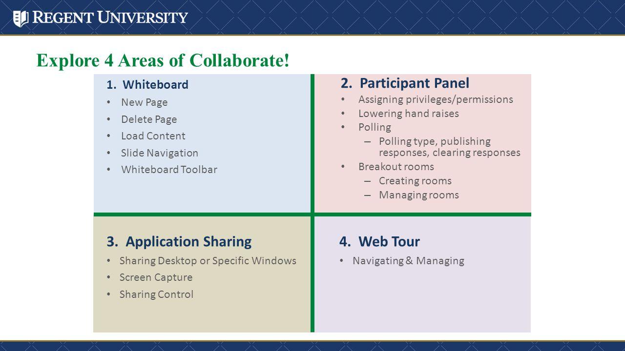 Explore 4 Areas of Collaborate. 1.