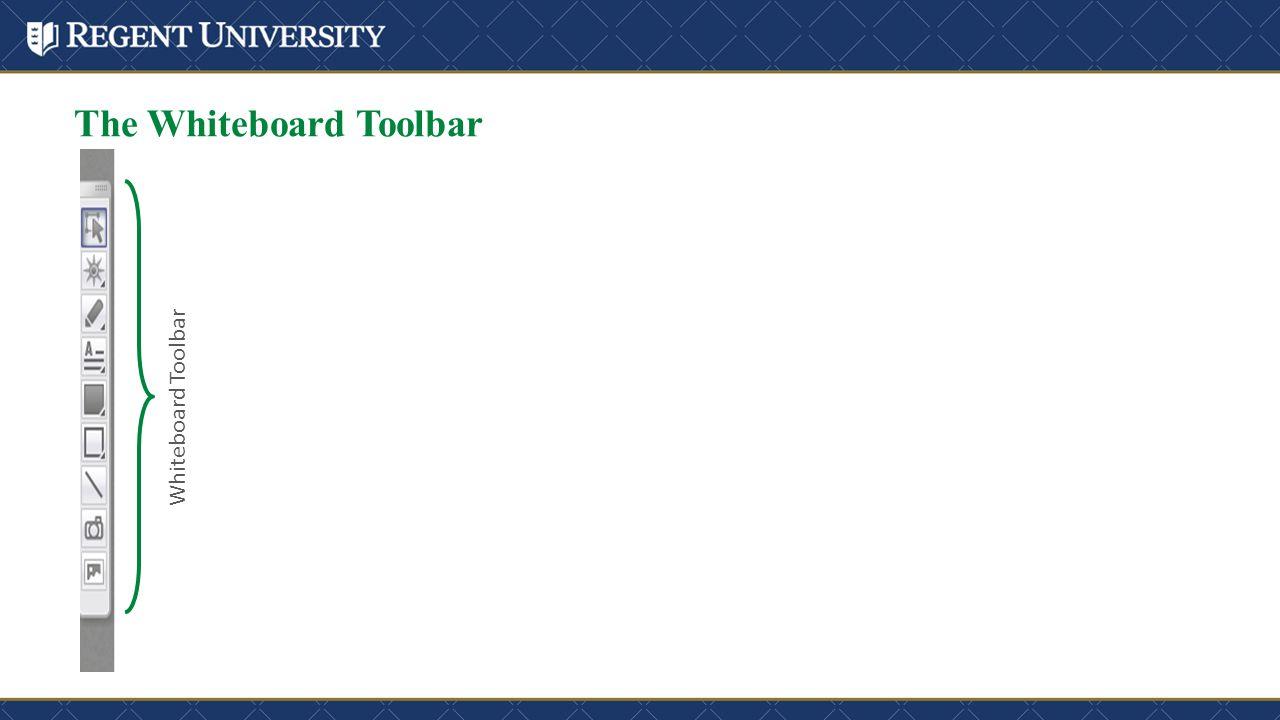 The Whiteboard Toolbar Whiteboard Toolbar