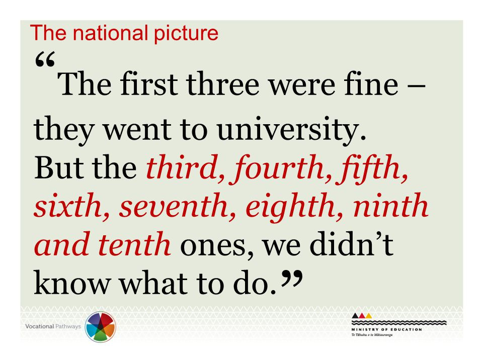 The first three were fine – they went to university.