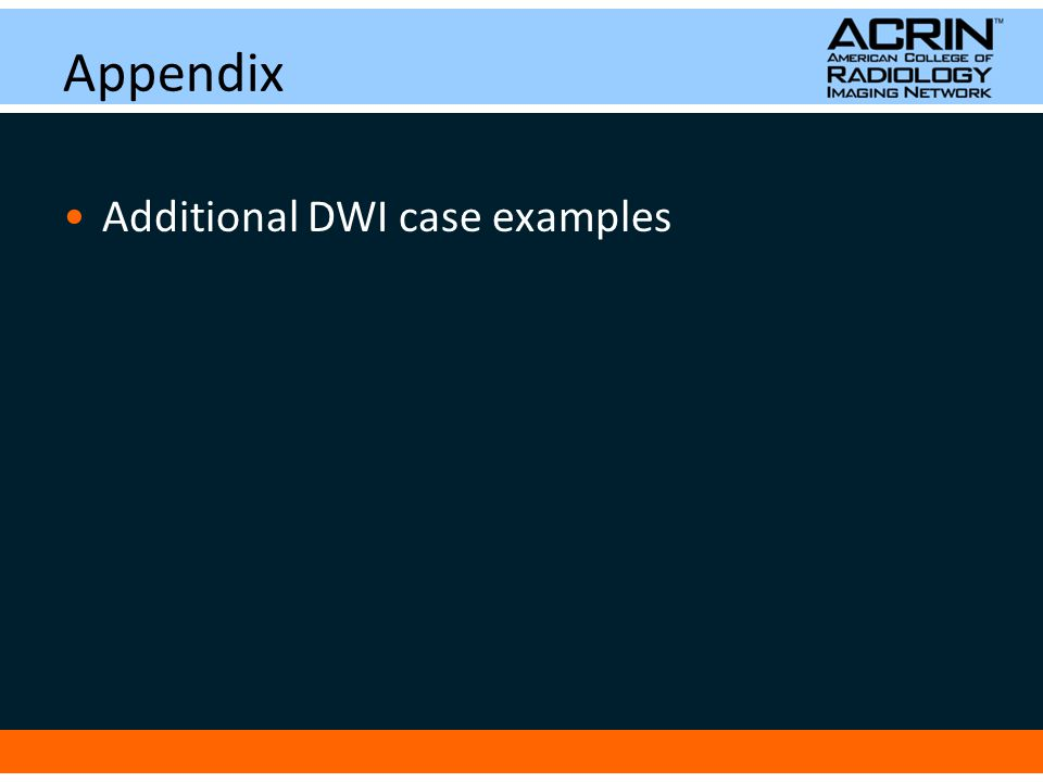 Appendix Additional DWI case examples