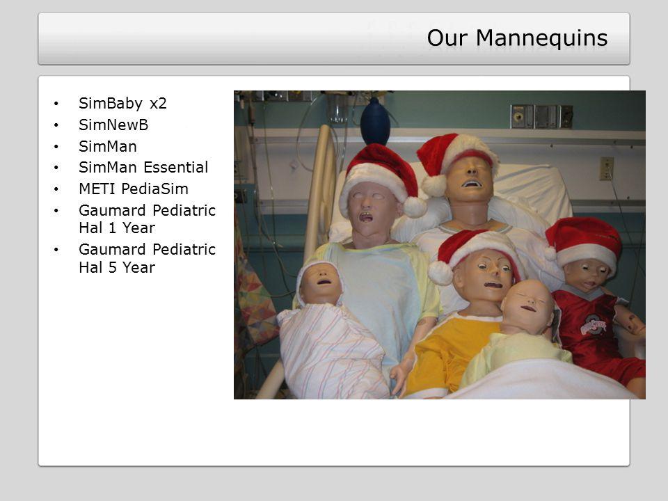 SimBaby x2 SimNewB SimMan SimMan Essential METI PediaSim Gaumard Pediatric Hal 1 Year Gaumard Pediatric Hal 5 Year