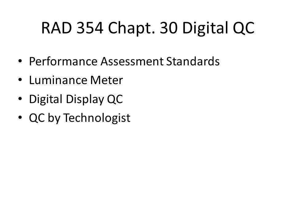 RAD 354 Chapt.