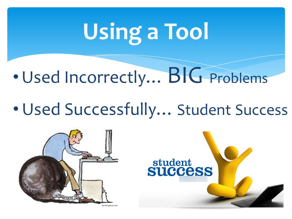 Used Incorrectly… BIG Problems Using a Tool Used Successfully… Student Success