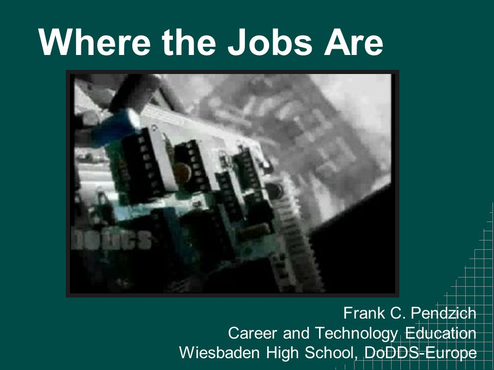 Where the Jobs Are Frank C.