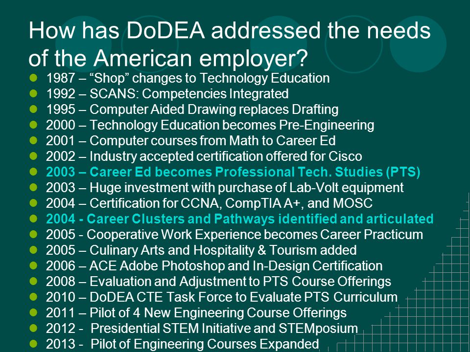 How has DoDEA addressed the needs of the American employer.