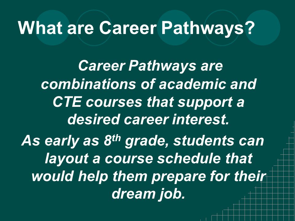 What are Career Pathways.