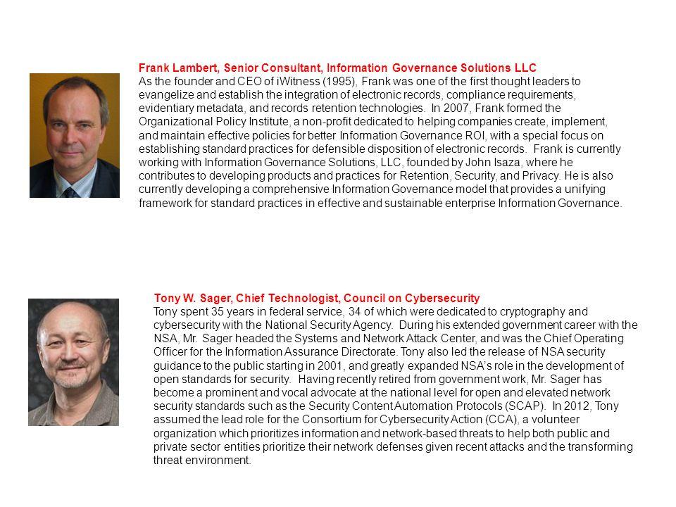 Jason Stearns, CRM, IGP, Director Legal & Compliance - Information Governance, BlackRock Jason is a member of BlackRock's Legal and Compliance Group.