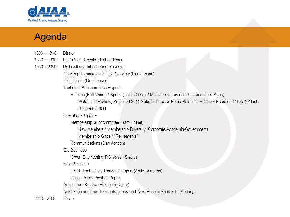 Guest Speaker Robert D.Braun, NASA Chief Technologist 02.03.10 Robert D.