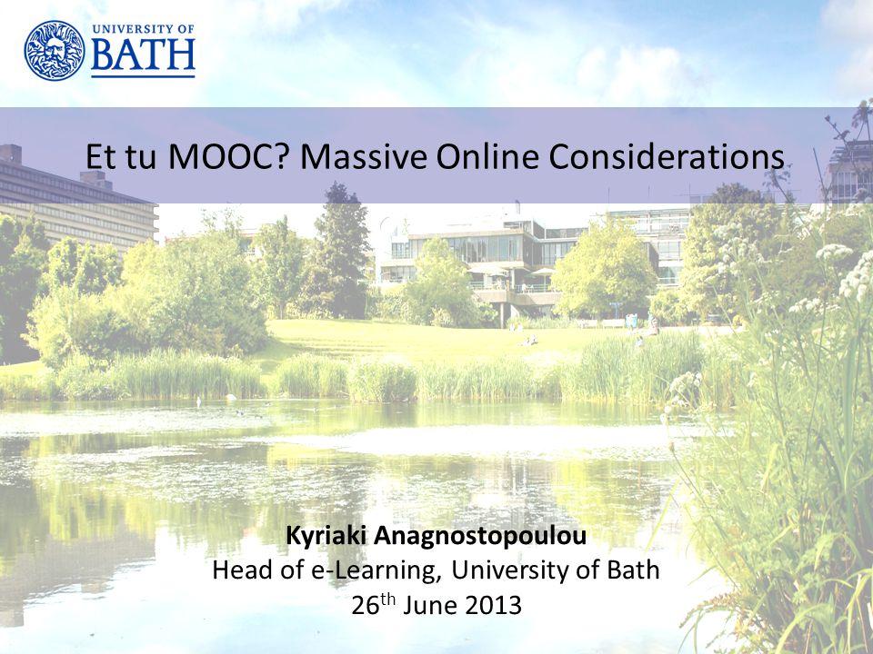 Et tu MOOC.