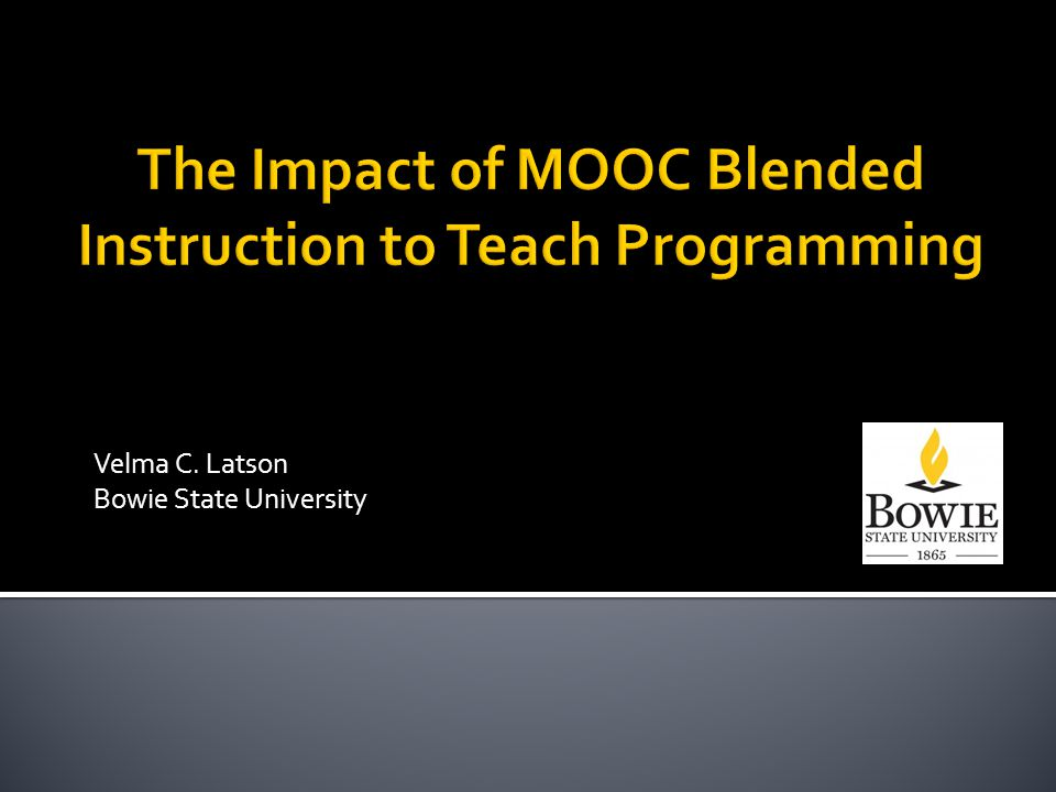  Introduction and background  Description of the study  Synopsis of the course  Data  Challenges  Best practices  Mastering Blended Instruction  Group activity