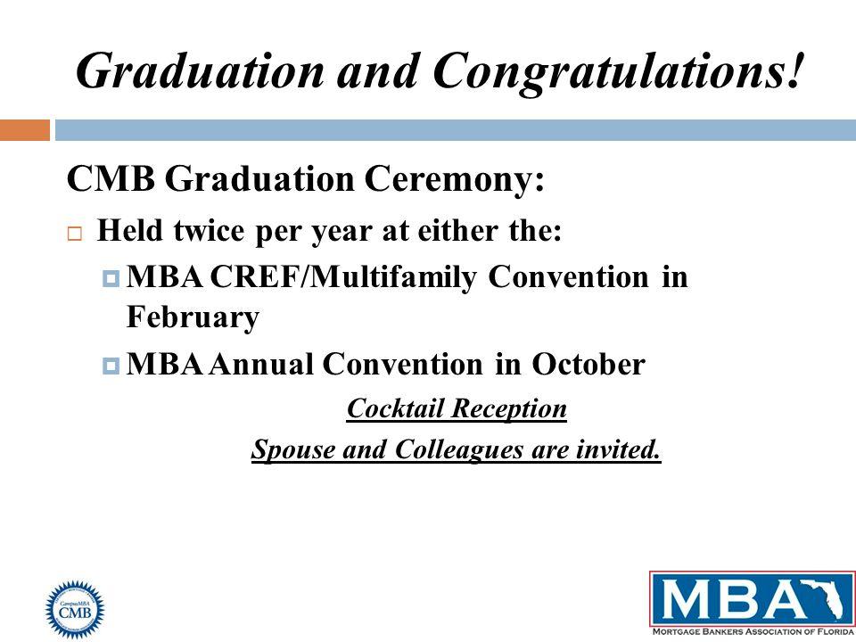 Graduation and Congratulations.