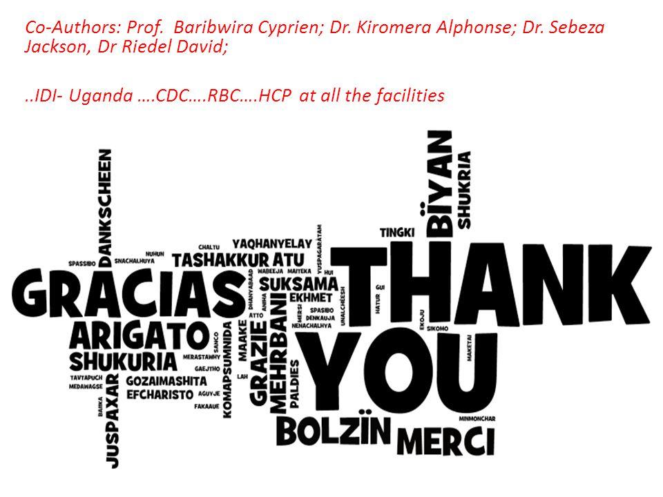 Co-Authors: Prof. Baribwira Cyprien; Dr. Kiromera Alphonse; Dr.