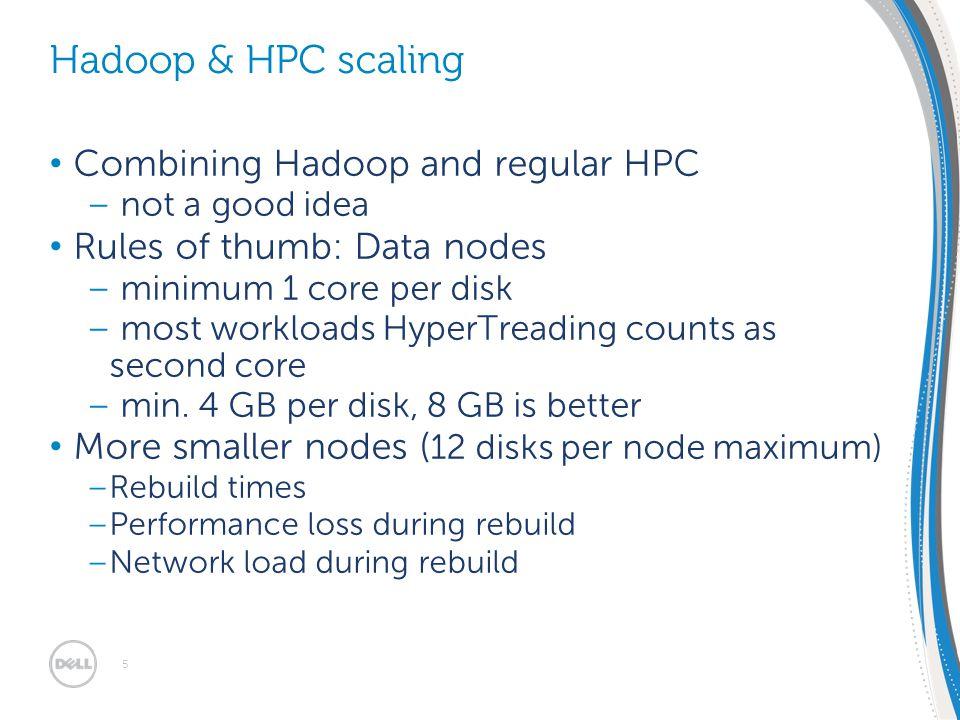 EMEA SMB Solutions Summit 30/1 – 2/2 2012 | Dublin, Ireland Combining Hadoop and regular HPC – not a good idea Rules of thumb: Data nodes – minimum 1