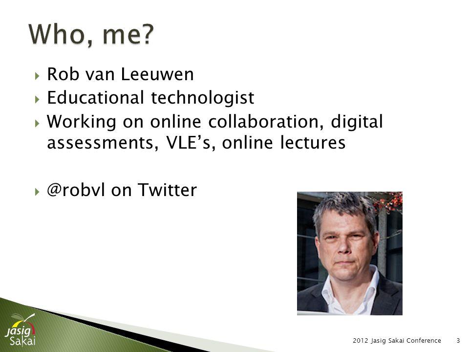  Content of slide 2012 Jasig Sakai Conference24